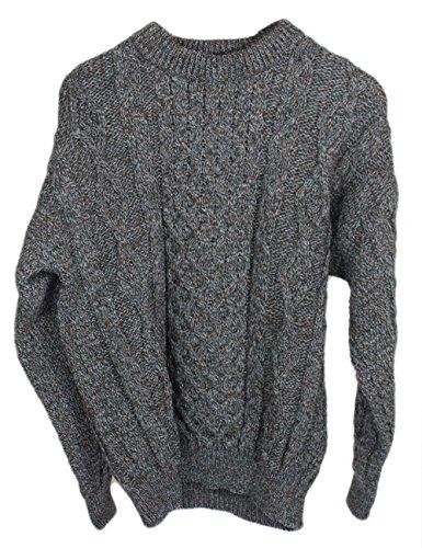 Aran Sweater 100% Wool Derby Tweed Unisex 2X Large