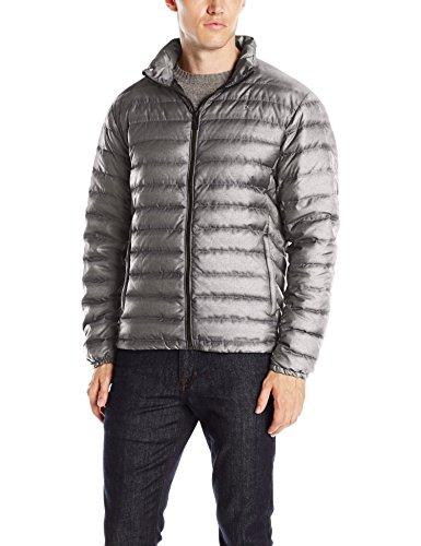 Calvin Klein Men's Classic Packable Down Jacket, Granite Indecent, L