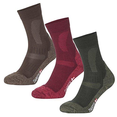 Merino Wool Hiking & Trekking Socks by DANISH ENDURANCE (US Women 8-10 // US Men 6.5-8.5, Green – FOREST GREEN)