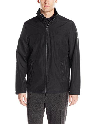 Calvin Klein Men's Poly Bonded Open Bottom Jacket, Black, Medium