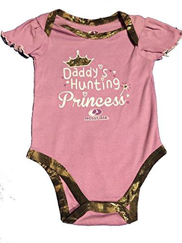 Daddy's Hunting Princess, Newborn size, mossy oak, cute, sassy, baby girl onesie creeper purple camo