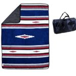 Water-Resistant Outdoor Blanket / Picnic Blanket / Camping Blanket : Machine Washable & Folds into a Blanket Tote Bag
