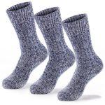 Fit Spirit 3 Pair Wool Blend Hiking and Trekking Crew Socks