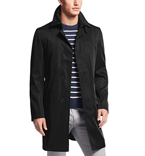 Calvin Klein Men's 36 Inch Raincoat with Removable Liner – Black -42L