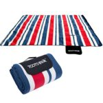Picnic Blanket for Barbecue Beach Travel Camping Portable Printing Soft Lightweight Professional Foldable Waterproof Outdoor Blanket Mattress Pad Extra Large 78.7×78.7 Inch (Red and Blue Plaid)