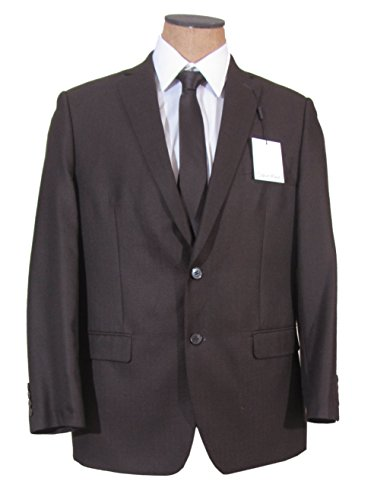 Calvin Klein Mens 2 Button Brown Slim Fit Sport Coat Jacket- Size 42L
