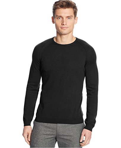 Calvin Klein Merino Wool Crew-neck Sweater Black Jack Heather XX-Large