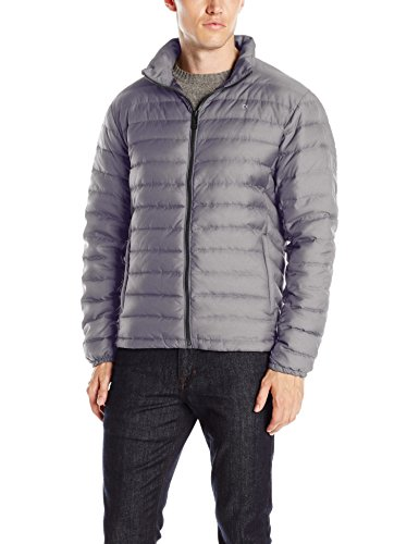 Calvin Klein Men's Classic Packable Down Jacket, Dark Chromium, Medium