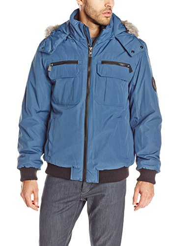 Calvin Klein Men's Artic Bomber, Cold Blue, Large