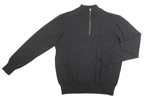 Orvis Mens Size Large Merino Wool 1/4 Zip Sweater, Charcoal