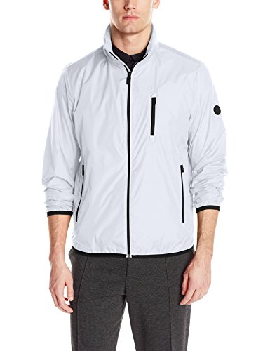 Calvin Klein Men's Packable Open Bottom Jacket, Crisp White, X-Large