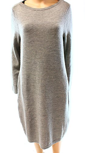 Lauren Ralph Lauren Women's Merino Wool Sweater Dress (XL, Heather Grey)