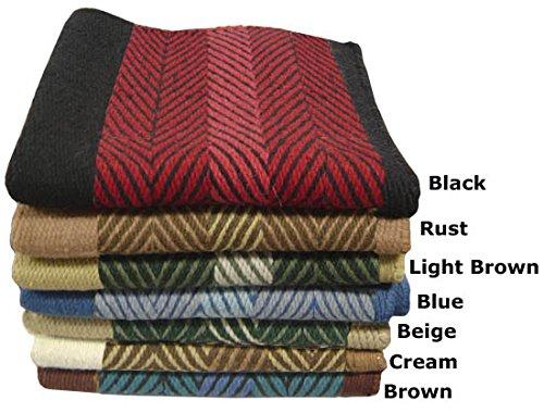 Tahoe Tack Heavy New Zealand Wool Saddle Blankets Zee Bar 36″ x 34″