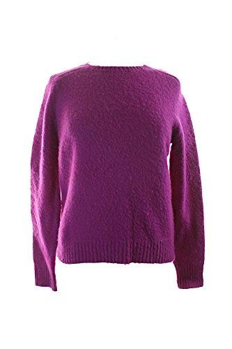 Polo Ralph Lauren Womens Shetland Wool Crew Pullover Sweater Purple L