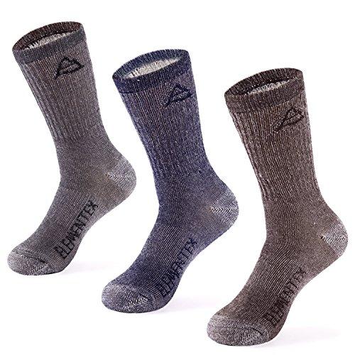 MERIWOOL 3 Pack Merino Wool Crew Socks – Large