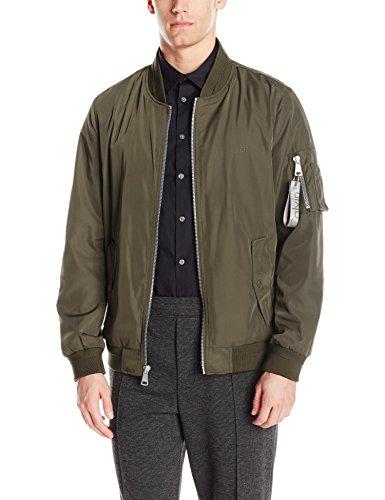 Calvin Klein Men's Flight Jacket, Deep Olive, Medium