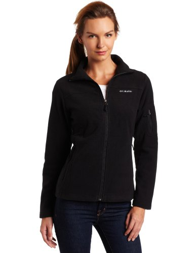 Columbia Women's Fast Trek II Full Zip Fleece Jacket, Black, Small
