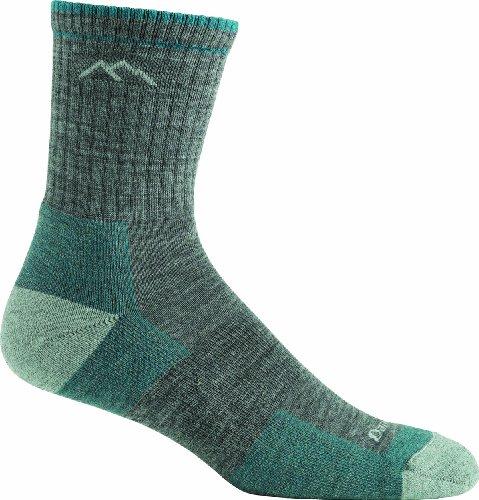 Darn Tough Vermont Women's Merino Wool Micro Crew Cushion Socks, Slate, Medium