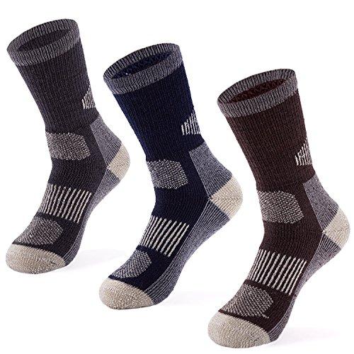 MERIWOOL 3 Pack Merino Wool Blend Socks