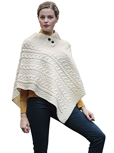 Carraig Donn Irish Wool Poncho