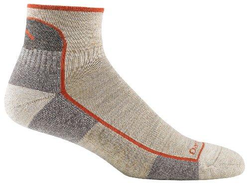 Darn Tough Vermont Men's Merino Wool 1/4 Cushion Socks, Oatmeal, Medium