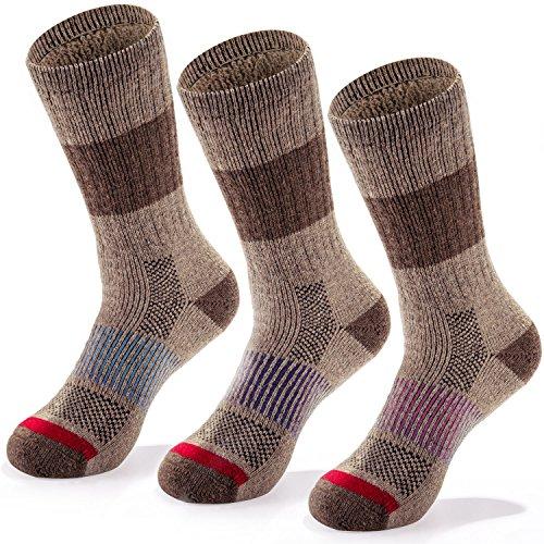 Fit Spirit 3 Pack Wool Blend Socks