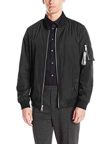 Calvin Klein Men's Flight Jacket, Black, Small