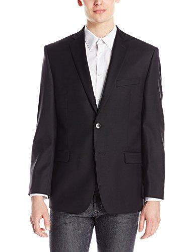Calvin Klein Men's Modern Fit Two Button Side Vented Back Suit Separate Jacket, Black, 44 Regular