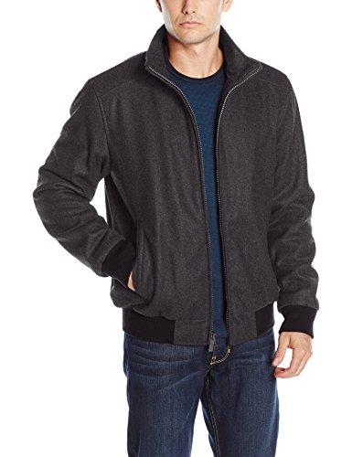 Calvin Klein Men's Wool Bomber, Charcoal, Medium