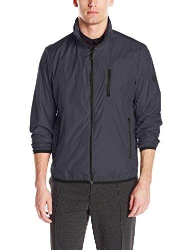 Calvin Klein Men's Packable Open Bottom Jacket, Black, Medium