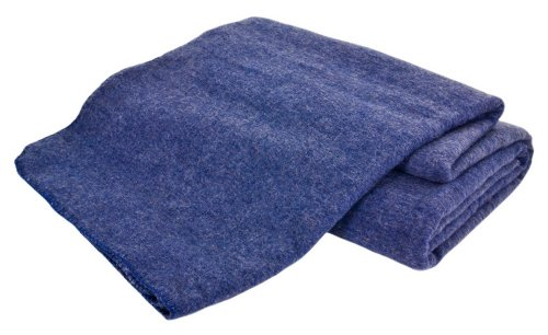 Creswick Australian Mills Hobart Machine Washable Australian Wool Blend Blanket, Twin, Denim