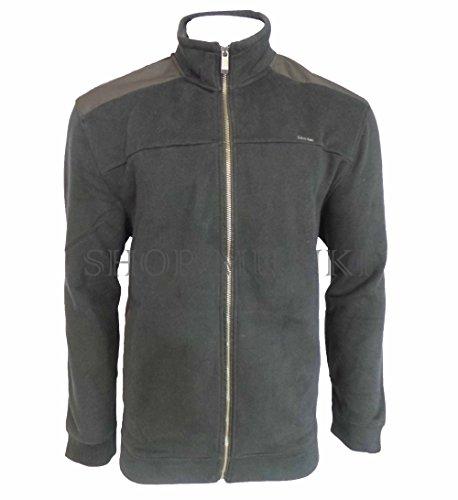 Calvin Klein Jeans Mens Full-Zip Fleece Mock Neck Sweatshirt Jacket