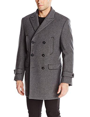 Calvin Klein Men's Medwin Peacoat, Light Grey, 44/Large