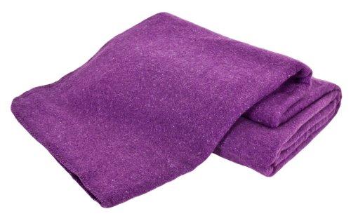 Creswick Australian Mills Hobart Machine Washable Australian Wool Blend Blanket, Full/Queen, Amethyst